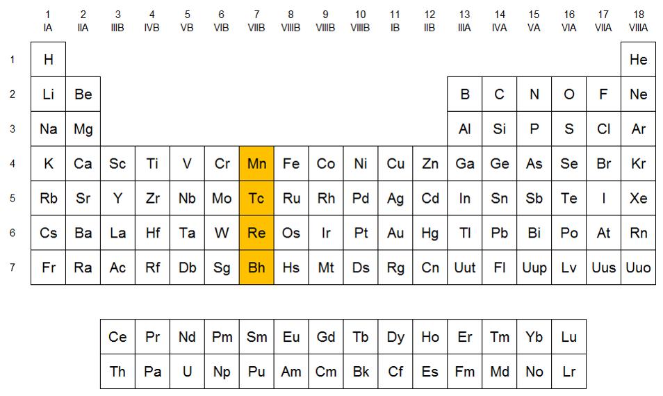 Grupo 7 de la tabla peridica familia del manganeso qumica en grupo 7 de la tabla peridica familia del manganeso qumica en casa urtaz Image collections