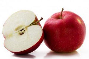 manzanas rebanadas picadas cortadas