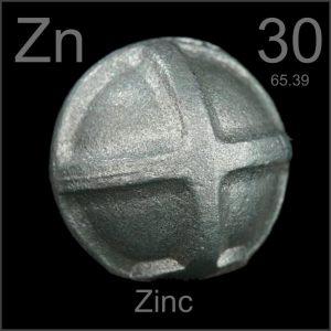elemento químico zinc cinc