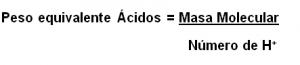 peso equivalente ácidos
