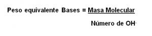peso equivalente bases